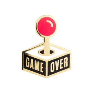 These Are Things Game Over Enamel Pin