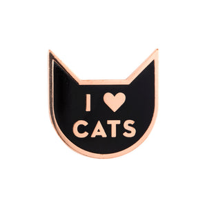 I Heart Cats Enamel Pin