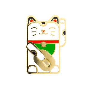 Lucky Cat Enamel Pin