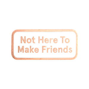 Not Here To Make Friends Enamel Pin
