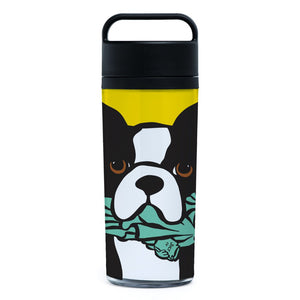 Marc Tetro NYC Boston Terrier Statue of Liberty Tumbler