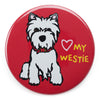 Marc Tetro Love My Westie Magnet  by Marc Tetro