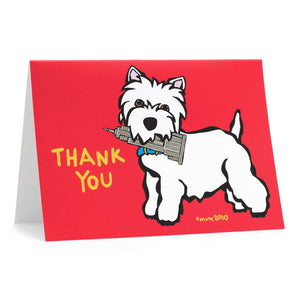 Marc Tetro Westie Thank You Cards NYC Empire State