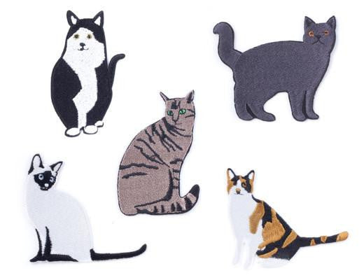 Kikkerland Large Cats Iron-on Patches