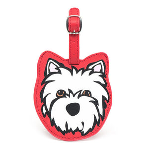 Marc Tetro Westie Luggage Tag- Red