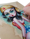 Simona Candini Classic Wonder Woman Original Painting