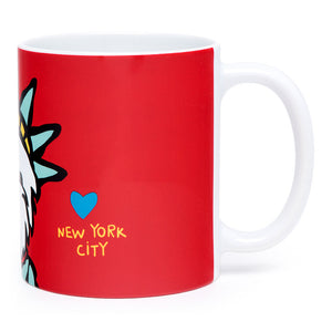 Marc Tetro Westie Statue of Liberty Mug Front
