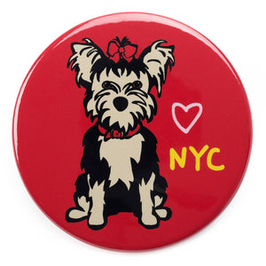 Marc Tetro NYC Yorkie Magnet  by Marc Tetro
