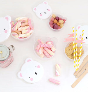 Snack Box - Pink Bear by A Little Lovely Company - PIQ