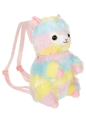 Plush Rainbow Alpaca Backpack by Amuse