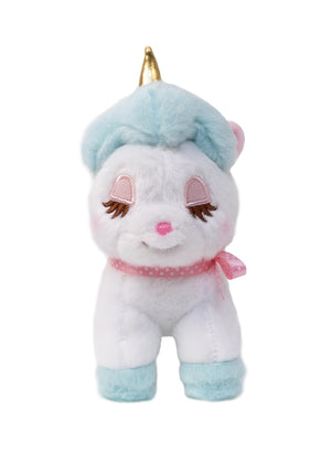 Aqua Unicorn Plush Keychain by Amuse