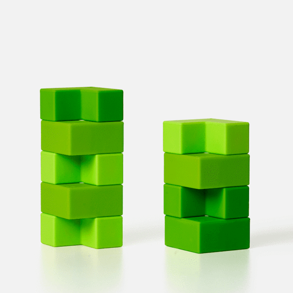 Blocks 9 Piece Set - Green-ish Brackets by Speks