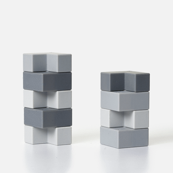 Blocks 9 Piece Set - Grey-ish Brackets by Speks