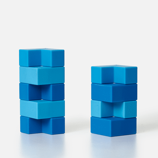 Blocks 9 Piece Set - Blue-ish Brackets by Speks