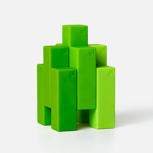 Blocks 9 Piece Set - Green-ish Beams by Speks