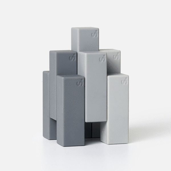 Blocks 9 Piece Set - Grey-ish Beams by Speks