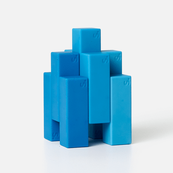 Blocks 9 Piece Set - Blue-ish Beams by Speks