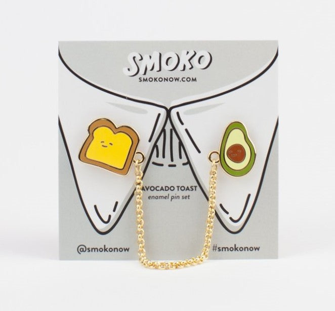 Smoko Toast And Avocado Enamel Pin