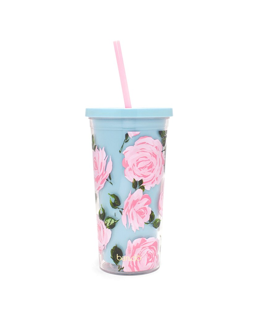 Sip Sip Tumbler With Straw: Rose Parade