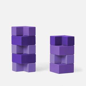 Blocks 9 Piece Set - Purple-ish Brackets by Speks