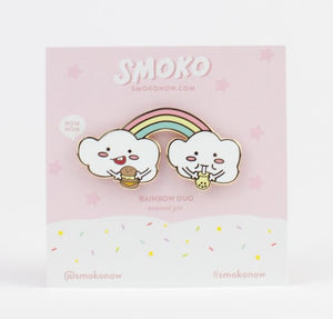 Smoko Rainbow Duo Enamel Pin