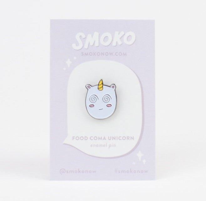 Smoko Food Coma Unicorn Enamel Pin