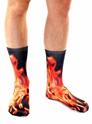 Flame Unisex Ankle Socks
