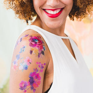 Tattly Watercolor Flora Temporary Tattoos