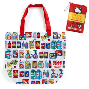 Hello Kitty American Supermarket Reusable Bag with Zip Case by Sanrio