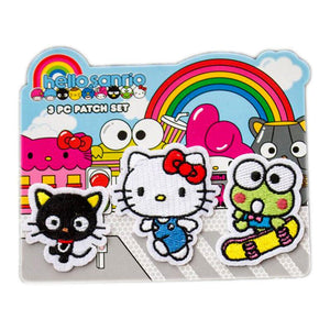 Sanrio Hello Kitty and Friends 3 Piece Embroidered Patch Set