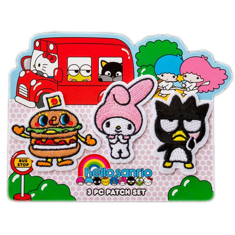 Sanrio My Melody and Friends 3 Piece Embroidered Patch Set