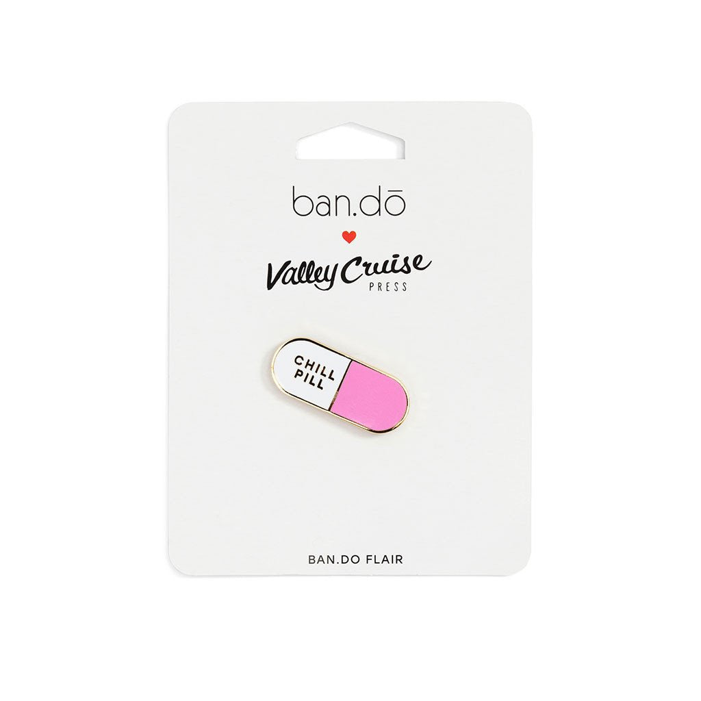 Chill Pill Enamel Pin by Ban.Do
