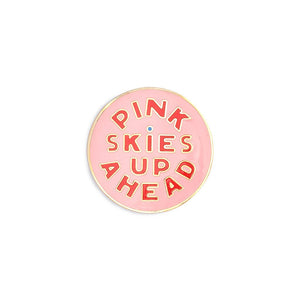 Pink Skies Up Ahead Enamel Pin