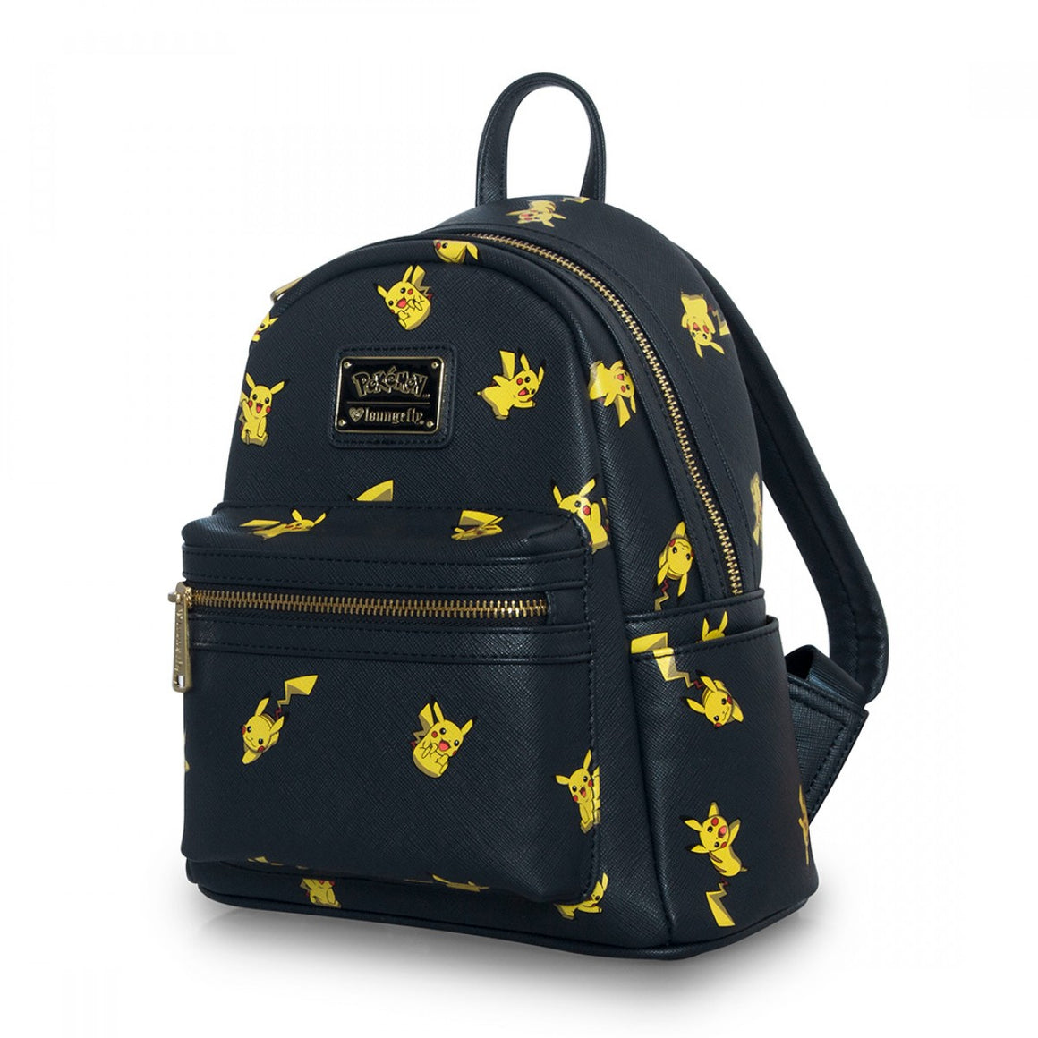 Loungefly x Pokémon Pikachu Print Mini Faux Leather Backpack