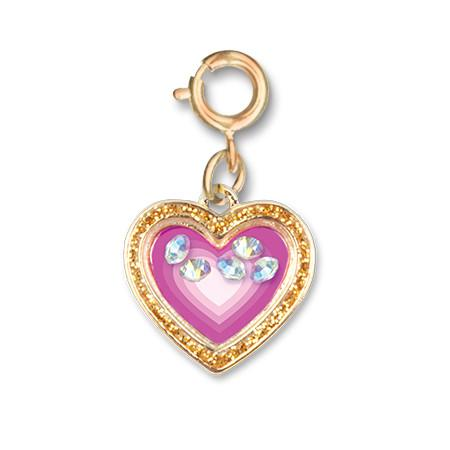 Charm It! Gold Heart Shaker Charm