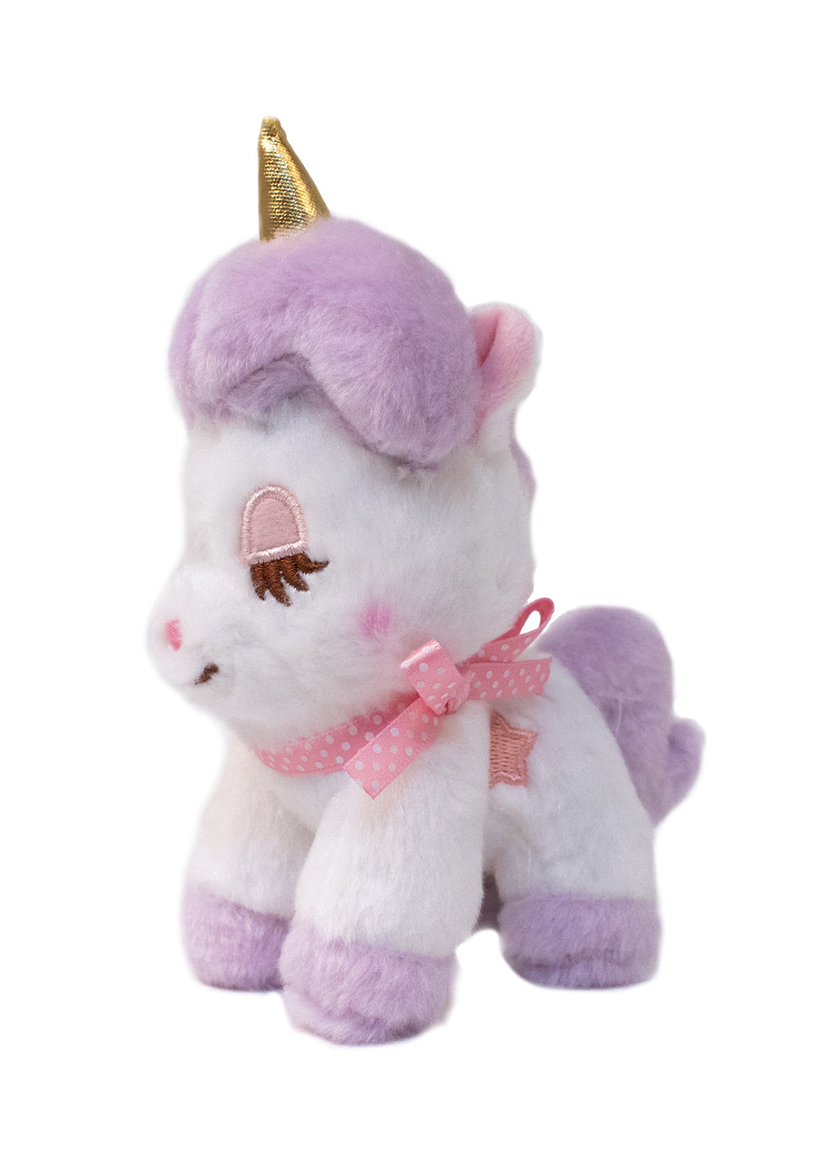 Purple Unicorn Plush Keychain by Amuse