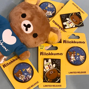 Rilakkuma Space Glow-in-the-Dark Enamel Pin by San X