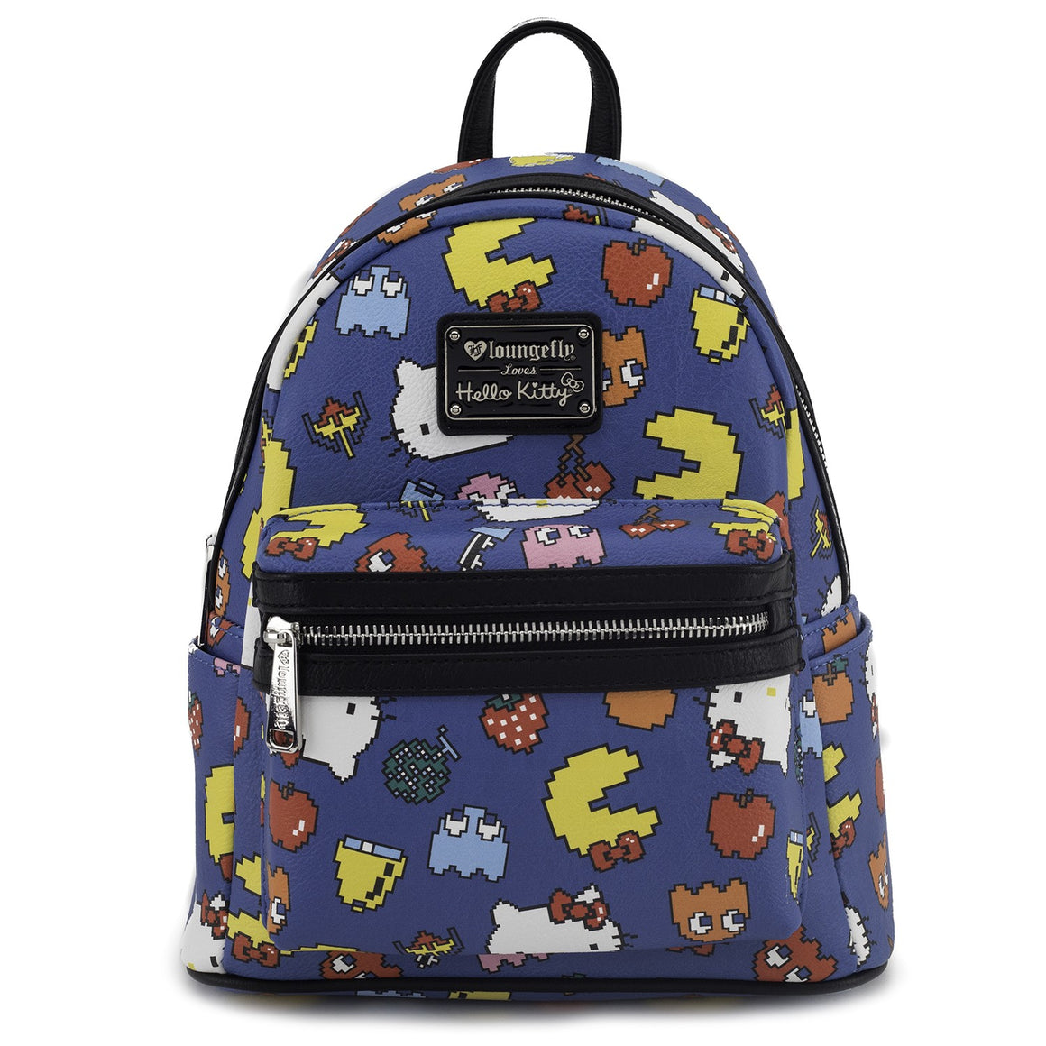 Loungefly x Hello Kitty x Pac Man Mini Faux Leather Backpack