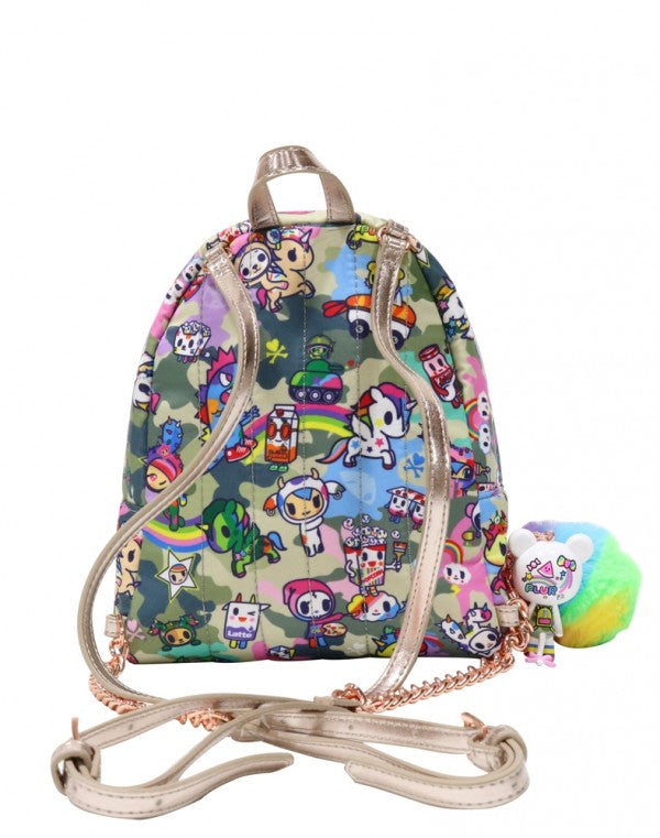 Tokidoki Camo Kawaii Mini Backpack