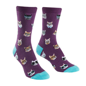 Smarty Cats Women's Crew Socks by Sock It to Me