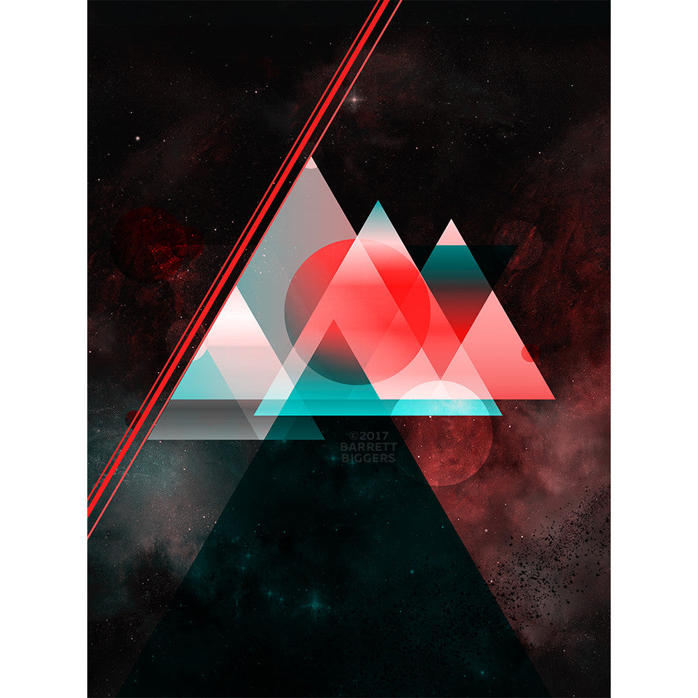 Barrett Biggers Space Abstract Limited Edition Print