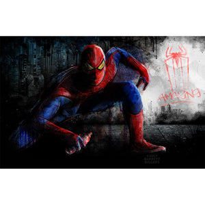 Barrett Biggers Spiderman Graffiti  Limited Edition Print