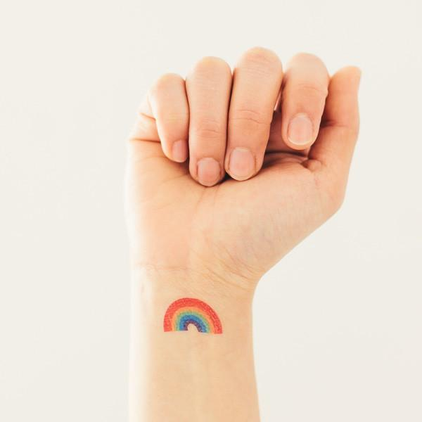 Tattly Temporary Rainbow Tattoos