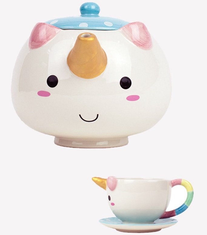 Elodie Unicorn Teapot Set