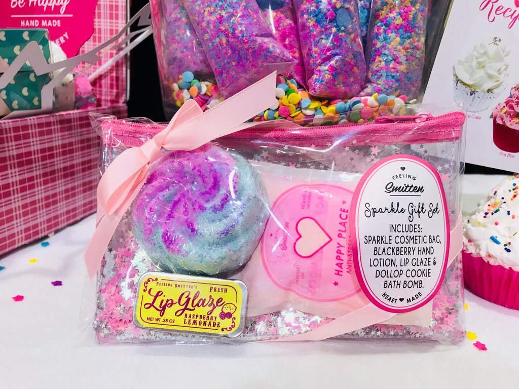 Feeling Smitten Bath Bakery Sparkle Gift Set