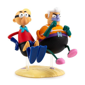 Kidrobot X Nickelodeon SpongeBob SquarePants Mermaid Man and Barnacle Boy Art Figure