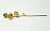 Long Stem Rose Dangle Earrings Sterling Silver or Gold Plated