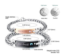 Load image into Gallery viewer, His Beauty Her Beast Bracelet Set