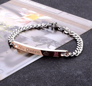 His Queen Her King Bracelet Set