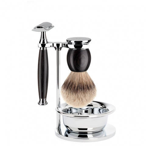 Muhle Sophist S93 H85 SSR 4 Piece Shaving Set African Blackwood